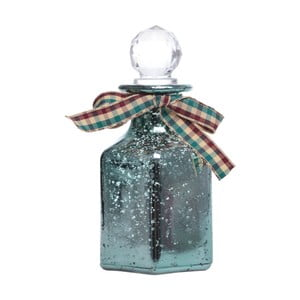 Zöld dekorációs üveg palack - Ewax