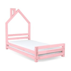 Dětská růžová postel z smrkového dřeva Benlemi Wally,120x200cm