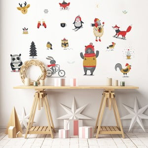 Christmas Animals karácsonyi matrica - Ambiance