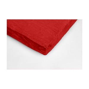 Piros egyszemélyes mikroplüss lepedő, 90 x 200 cm - My House