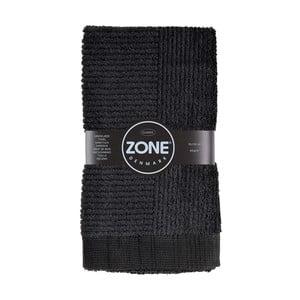 Classic fekete kéztörlő, 50 x 100 cm - Zone