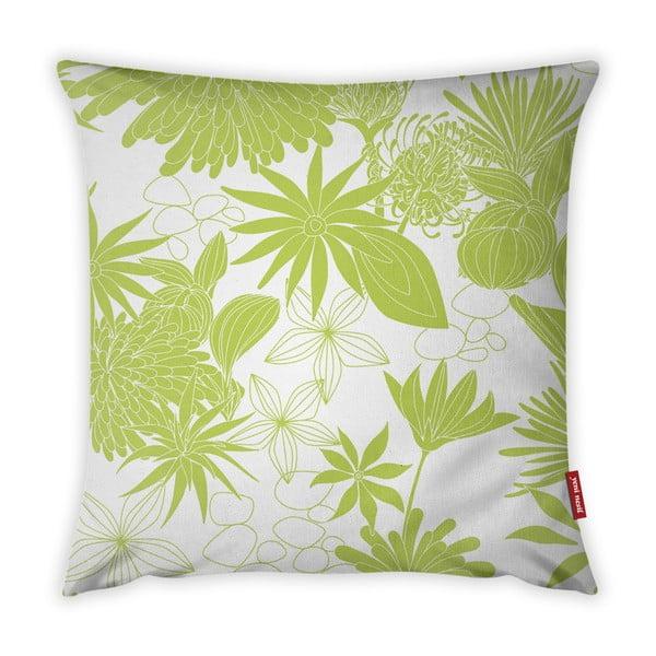 Jungle Verde lime zöld-fehér párnahuzat, 43 x 43 cm - Vitaus