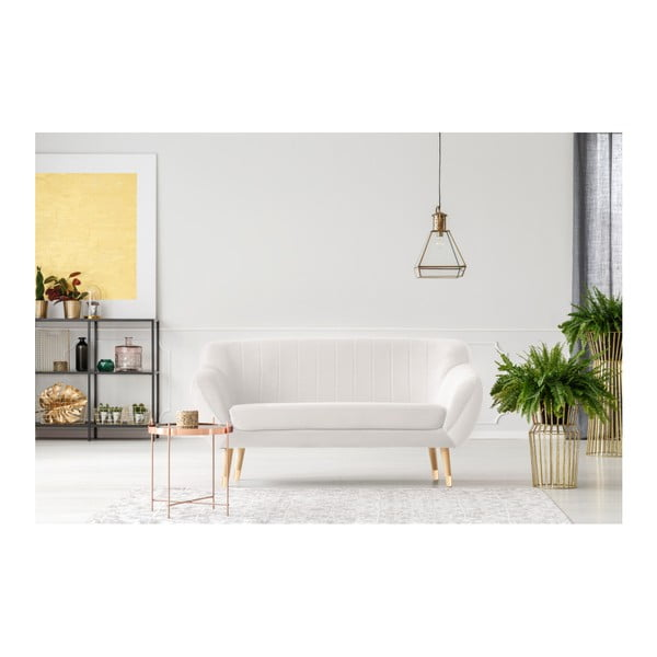Benito krémszínű kétszemélyes kanapé - Mazzini Sofas