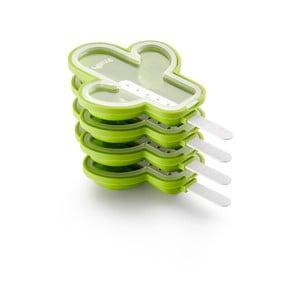 4 db-os kaktusz formájú zöld szilikon jégkrémkészítő forma - Lékué
