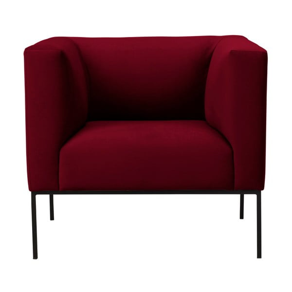 Neptune piros bársonyfotel - Windsor & Co Sofas