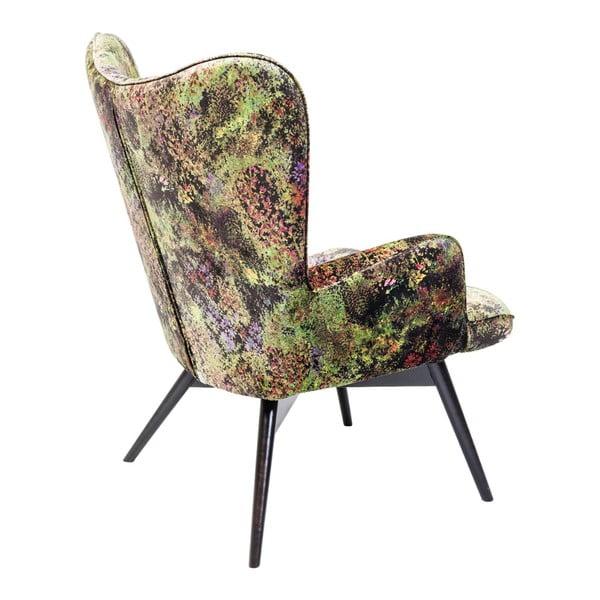 Vicky zöld fotel - Kare Design