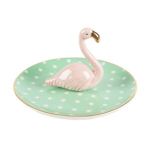 Tropical Flamingo kerámia ékszertartó - Sass & Belle