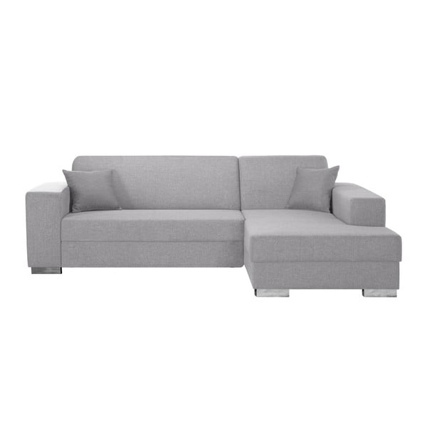 Bijou világosszürke kanapé, jobb oldalas - Interieur De Famille Paris
