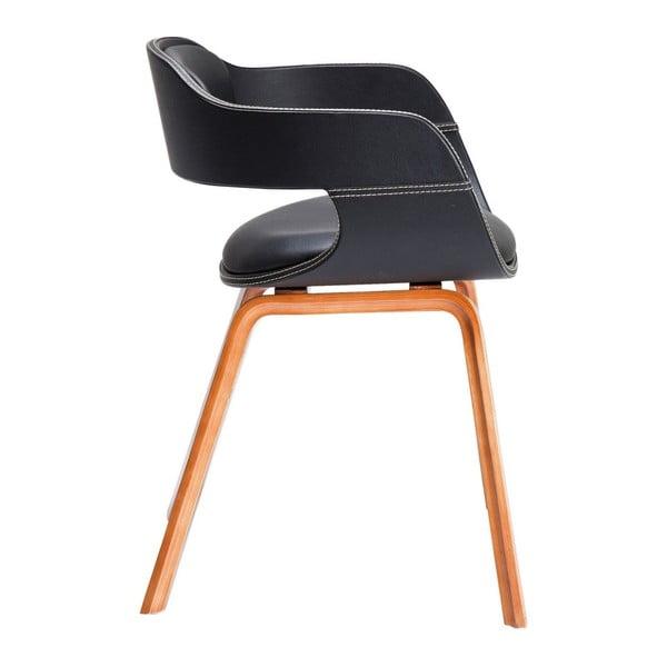 Costa étkezőszék, sötét színű fa lábakkal - Kare Design
