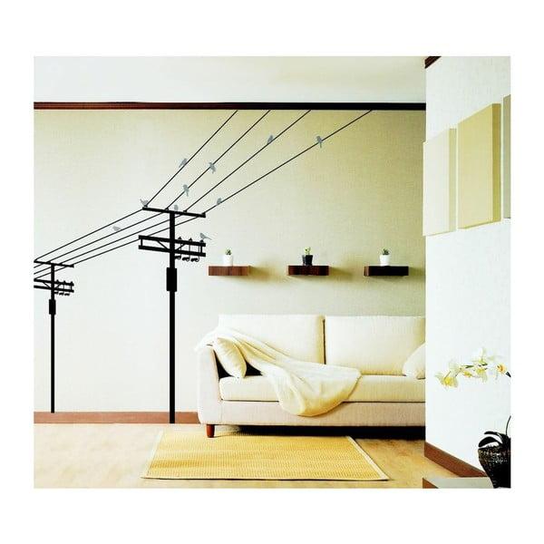 Birds on electric pole falmatrica, 140 cm - Ambiance