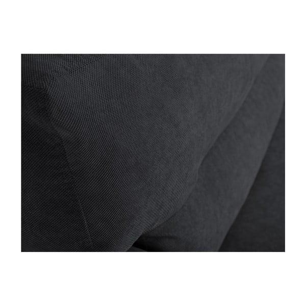 Sydney háromszemélyes sötétszürke kinyitható kanapé tárolóval, 231 x 98 x 95 cm - Cosmopolitan design