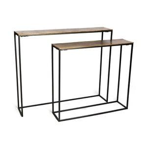 Hard 2 db-os konzolasztal szett, aranyszínű asztallappal - Simla
