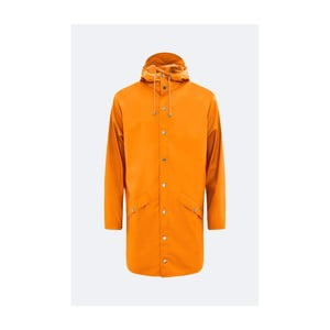 Oranžová unisex bunda s vysokou voděodolností Rains Long Jacket, velikost S/M