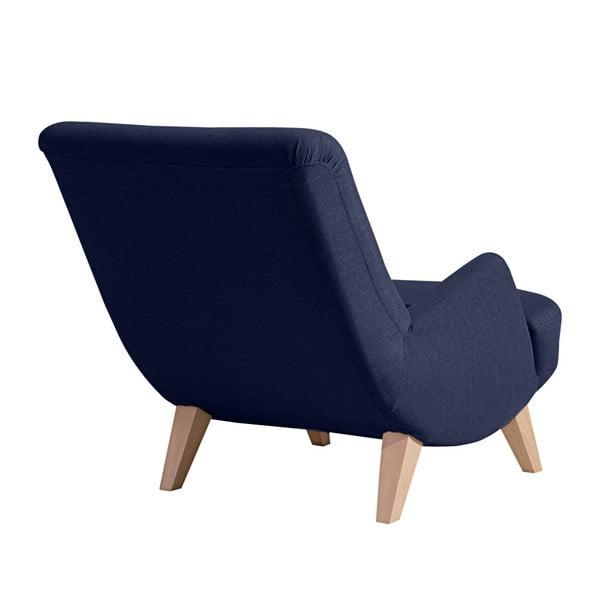 Brandford sötétkék fotel világosbarna lábakkal - Max Winzer