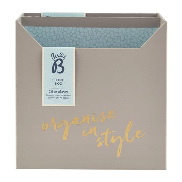 Filing Box szürke asztali szervező - Busy B
