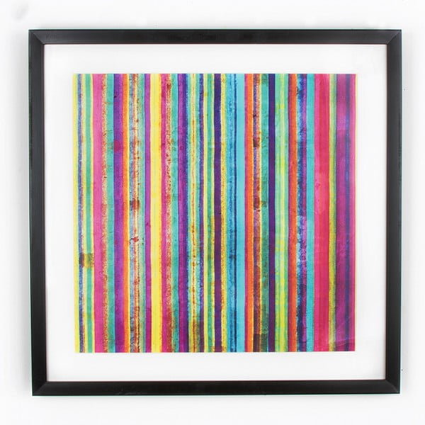 Neon Stripe kép, 50 x 50 cm - Graham & Brown