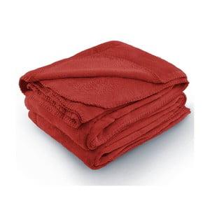 Červená deka z mikrovlákna AmeliaHome Tyler, 70 x 150 cm