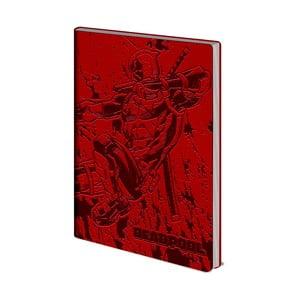 Deadpool vonalas jegyzetfüzet, A5, 72 oldal - Pyramid International