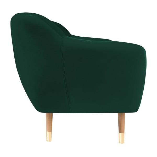 Amelie sötétzöld 2 személyes kanapé - Mazzini Sofas