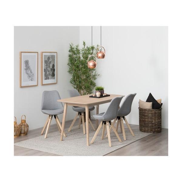 Nagano étkezőasztal tölgyfa lábszerkezettel, 150x80cm - Actona