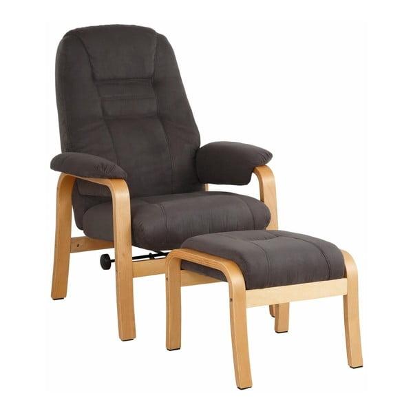Micro barna fotel lábtartó puffal - Støraa