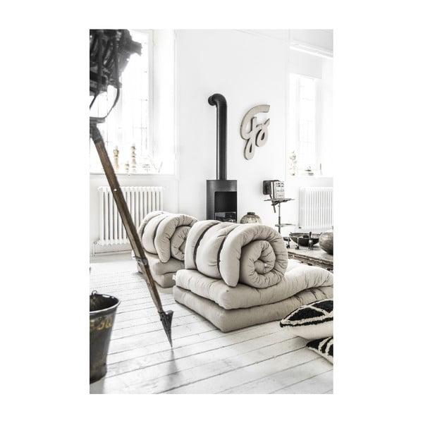 Buckle Up Natural világosbézs kinyitható fotel - Karup Design