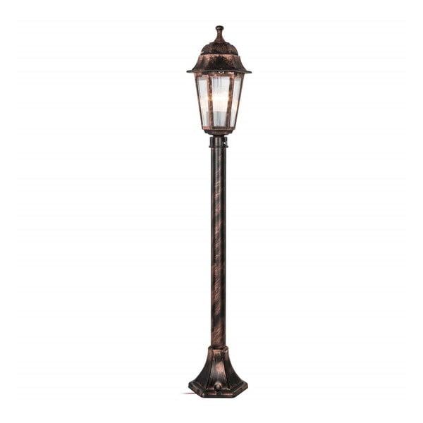 Lampas bronzszínű kültéri világítás, magassága 98 cm