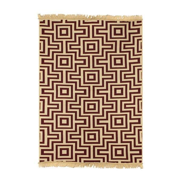 Ya Rugs Kare Claret piros szőnyeg, 60 x 90 cm
