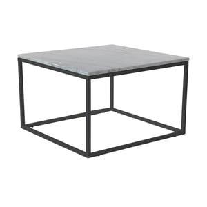 Accent márvány kávézó asztal fekete vázzal, 75 cm széles - RGE