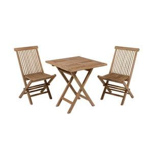 Salvatore teakfa kültéri asztal 2 székkel - Santiago Pons