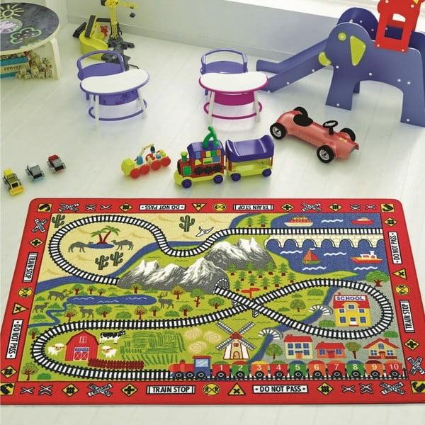 Railway szőnyeg gyermekeknek, 100 x 150 cm