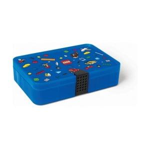 Iconic kék tárolódoboz rekesszel - LEGO®