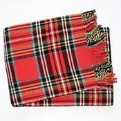 Scott piros kockás pléd, 140 x 180 cm - Euromant