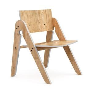 Lilly's Moso-bambusz gyermekszék szürke elemekkel - We Do Wood