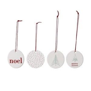 Noel 4 db-os kerámia karácsonyi dekoráció szett - Bloomingville