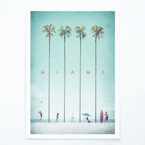 Miami plakát, A2 - Travelposter
