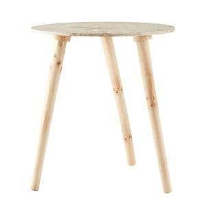 Természetes színű kisasztal, ∅ 40 cm - Villa Collection