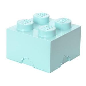 Aqua kék négyszögletes tárolódoboz - LEGO®