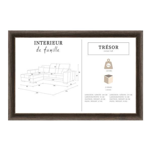 Tresor világosbarna kanapé, bal oldalas - Interieur De Famille Paris