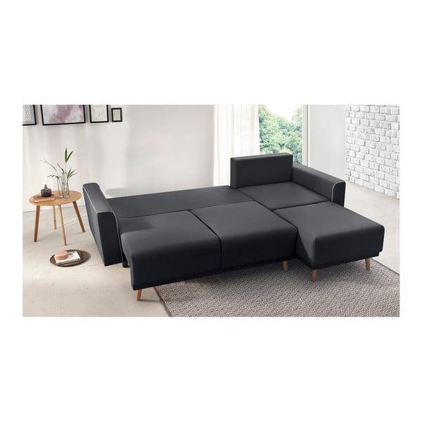 Mola sötétszürke kinyitható kanapé, jobb oldali kivitel - Bobochic Paris