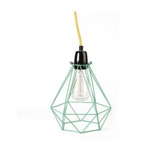 Diamond #1 lámpa zöld lámpabúrával és sárga kábellel - Filament Style
