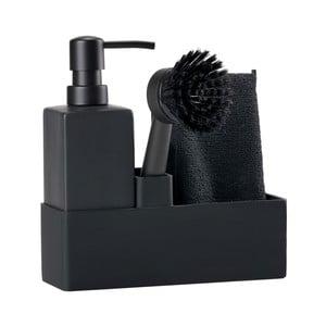 Trio fekete háromrészes mosogató szett - Zone
