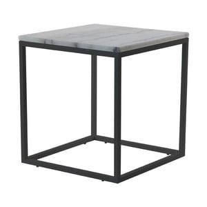Accent márvány kávézó asztal fekete vázzal, 55 cm széles - RGE