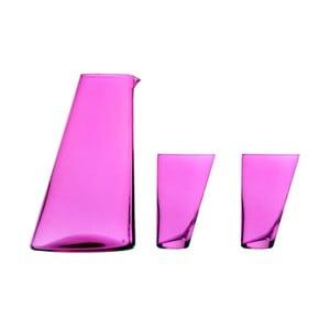 Ponza kézzel készített lila kancsó, 2 pohárral - Surdic