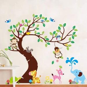 Tree, Monkeys and Elephant falmatrica szett - Ambiance