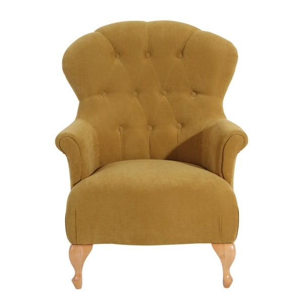 Camilla Velor sárga fotel - Max Winzer