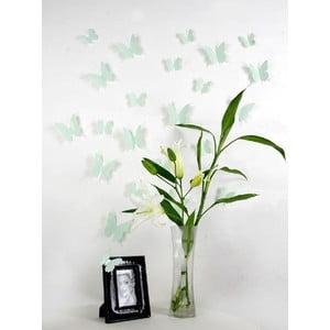 Butterflies zöld 3D hatású 12 db-os falmatrica szett - Ambiance