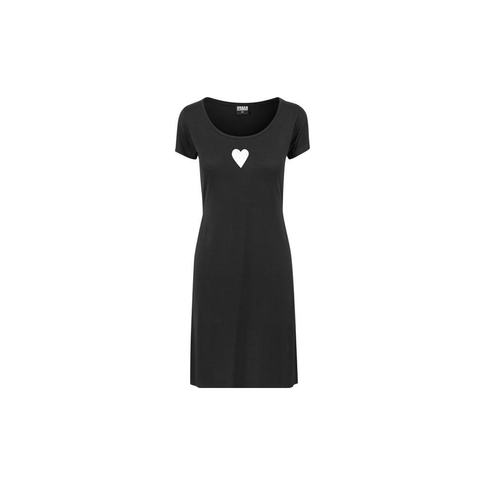 Fekete női hosszú póló hasítékokkal Lena Brauner   IM Cyber Együtt  motívumával 1f421d22ca