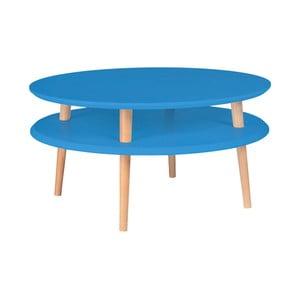 Modrý konferenční stolek Ragaba Ufo, ⌀70cm