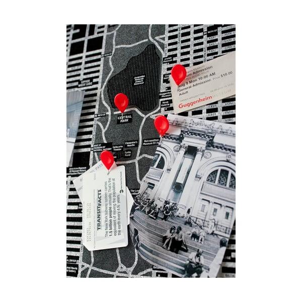 Pin World fekete falitérkép, 126 x 68 cm - Palomar